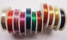 CHOOSE THICKNESS,1 REEL COLOURED BEADING CRAFT WIRE, WRAPPING, SCULPTING, TIARA