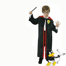 Child Wizard Boy Costume with FREE* Glasses + Wand Cloak Book Week 4-12yrs