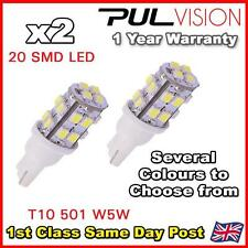 2 x 20 SMD LED 501 T10 W5W Side / Number Plate / Interior Light - SUPER BRIGHT