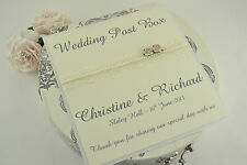 Personalised Wedding Post Box Sign. White, Ivory or Cream Card.