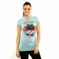 Ed Hardy by Christian Audigier Women Eternal Love light blue short sleeve