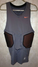 Mens XL NIKE Pro Combat Deflex Padded Grey Oran Basketball Compression Shirt Top