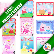 Peppa Pig Edible Icing Sheet Picture Image Print Cake Topper Rectangle b