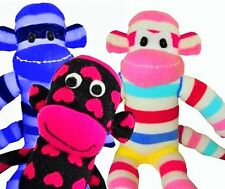 3 Sock Monkey Kits, Choose Your Socks, Boy or Girl or Both, FREE 1ST CLASS POST