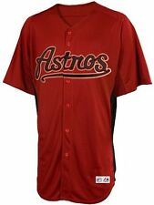 Houston Astros Replica Youth Batting Practice Majestic Jersey Brick Red S M L XL