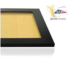 1.5 in Satin Black Teak Finish Picture Poster Photo FRAME  Wood Composite 11 in