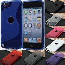 "4"" Apple iPod Touch 5 5G 5th Gen Soft TPU S shape Skin Cover Case"