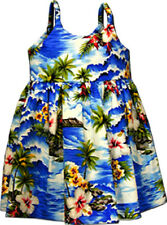 Tropical Girls Cute Dress Waikiki Beach Cotton 130-3238 NEW Made in Hawaii, USA