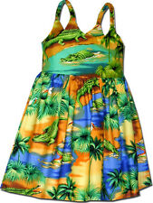 Toddler Hawaiian Dresses Gator zone 100% Cotton 130-3132 NEW Made in Hawaii, USA