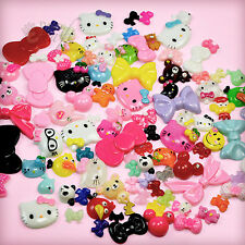 25, 50 or 100pcs Kawaii Resin Flatback Cabochon Set Phone Decoden Embellishments