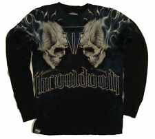 Throwdown Mens LS Thermal Shirt TORCHED Black    SELECT YOUR SIZE
