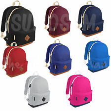 Retro Backpack Rucksack School or Work Bag 4 Colours from UK SELLER
