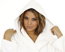 Hooded Cotton Terry Adults Bathrobe, Bath Robe for Men and women with embroidery