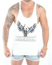 Mens Training Gym Vest Bodybuilding Fitted Muscle Racerback Y Back Stringer ZYZZ
