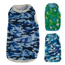 3 Colors Camo Dog Shirt T-Shirt Tank Shirts Pet Apparel Dog Clothes XS S M L XL