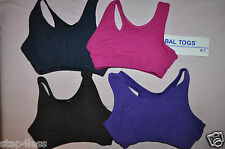 Nwt Bal Togs Child-Medium+ Large cotton-lycra Bra dance  practice Top-item# 1348