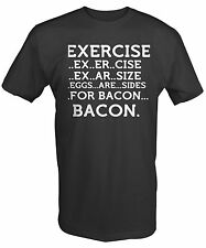 BACON EXERCISE EGGS ARE A SIDE LOVERS COLLEGE Funny Adult Tee Shirt43