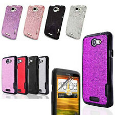 DISCO Shining Hard Case Cover FOR HTC ONE-X Free Screen Protector + Mini Stylus