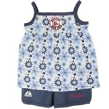 Boston Red Sox Toddler Girls Flower Tank & Shorts Set by Majestic