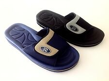 MEN'S SLIP ON SPORT SLIDE SANDALS ADJUSTABLE VELCRO FLIP FLOPS SLIPPERS SHOES