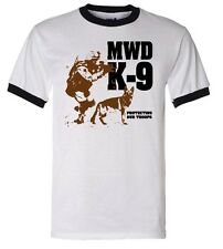 SAR Search & Rescue T-Shirt: MILITARY WORKING DOG K-9 - RINGER TEE
