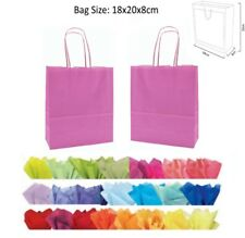 Cheap 20x18x8cm Pale Pink Paper Party Loot Bag Wedding Favour Gift Bags & Tissue