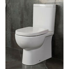 Raised Comfort Height Close Coupled Fully Back to Wall Toilet Soft Close Seat