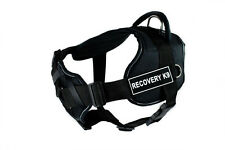 DT FUN w/ Chest Support Working Dog Harness in reflective trim - RECOVERY K9