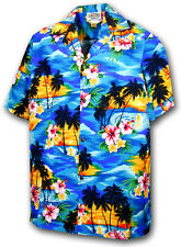 Boys Aloha Shirt Waikiki Sunset 211-3104 NEW 100% Cotton Made in Hawaii. USA