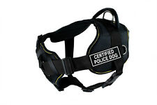 DT FUN w/ Chest Support Working Dog Harness in yellow trim -CERTIFIED POLICE DOG