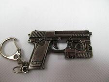 SOLID METAL COLLECTABLE HECKLER & KOCH USP 45CT TACTICAL CALIBER HANDGUN KEYRING