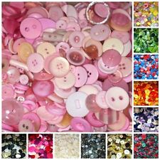 Mixed Buttons | 100g Bag Assorted Sizes | Large Range of Colours