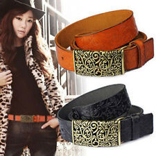 Free Shipping Womens Real Leather Belts Retro Pattern Nostalgic Classic Girdle