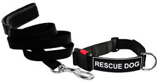 DT Dog Collar & Leash Bundle with Velcro Patch - RESCUE DOG