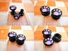 Cutey Footprint Flesh Tunnels Ear Plugs Select Size