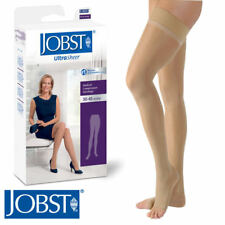 Jobst Womens UltraSheer Thigh Compression Stockings 30-40 mmhg Supports Dot Band
