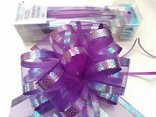 5 X Organza Pull Bows 50mm~~ Look Great~~ Many Colours