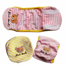 Pink/ Yellow Stripes Male Dog Diapers Belly Bands Pet Apparel Dog Clothes S M L