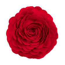 """Fun & Cute Rose Flower Decorative Throw Pillow, 13"""" Round, 14 Colors"""