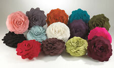 "Fun & Cute Rose Flower Decorative Throw Pillow, 13"" Round, 14 Colors"
