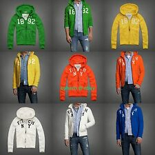 NEW Abercrombie & Fitch MEN Orebed Brook Hoodie Jacket anf hollister a&f