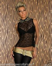 STUNNING LACE TOP WITH RHINESTONES ON COLLAR AND BUTTONS AT THE BACK.