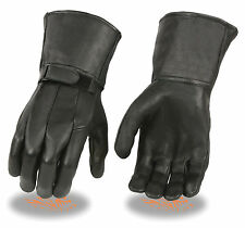 Men's Mid Weight Lined Motorcycle Gauntlet Glove Tight Fitting Style FI150-GL