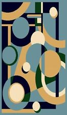 """5' X 8"""" AREA RUG MODERN CONTEMPORARY GEOMETRIC ABSTRACT COLORFUL CIRCLES"""