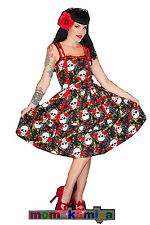 LIVING DEAD SOULS VOODOO VIXEN NEW ROCKABILLY 50S SKULL AND ROSE DRESS DR2204.
