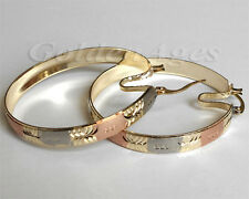 Fashion 14k 3-Tone Gold Filled Earring Will Match with Semanario 7-Day Bangles