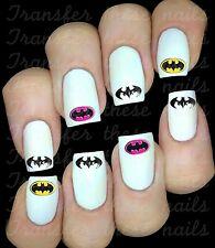 30 BATMAN GIRL LOGO NAIL ART DECALS STICKERS/TRANSFERS PARTY FAVORS MIX & MATCH