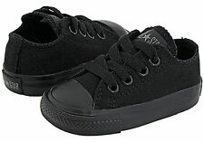 Converse Chuck's Low Tops Black Mono All Sizes Infants Kids Shoes