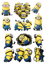 DESPICABLE ME MINIONS STICKER WALL DECAL OR IRON ON TRANSFER TSHIRT FABRICS lot