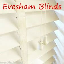 MADE TO MEASURE CREAM 35MM WOODEN VENETIAN WINDOW BLIND WITH TAPES REAL WOOD